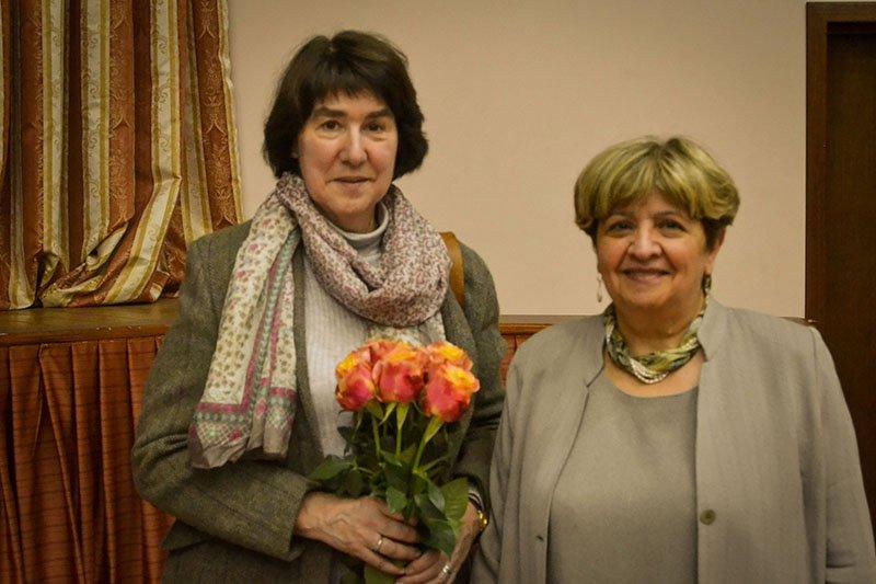 Школу №1557 посетила внучка нобелевского лауреата