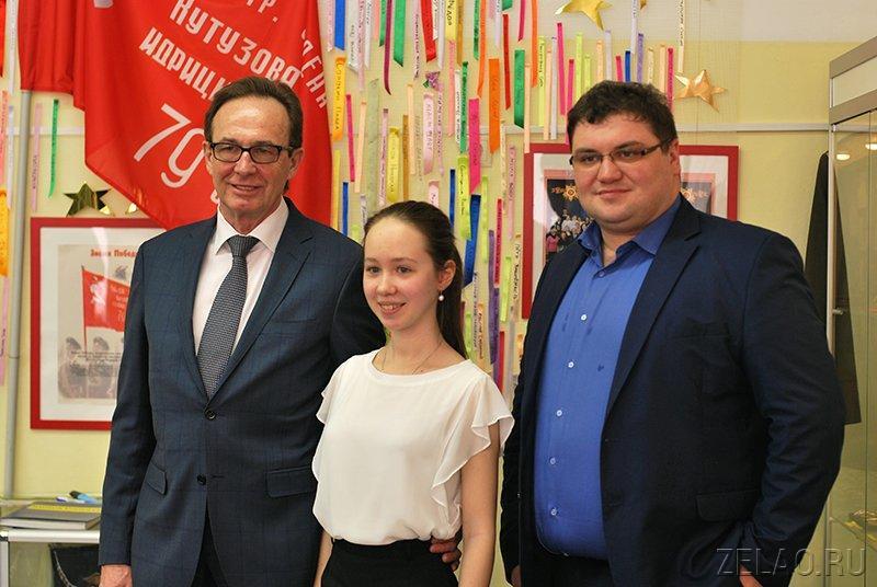 Префект округа Анатолий Смирнов побывал в зеленоградской школе №1194