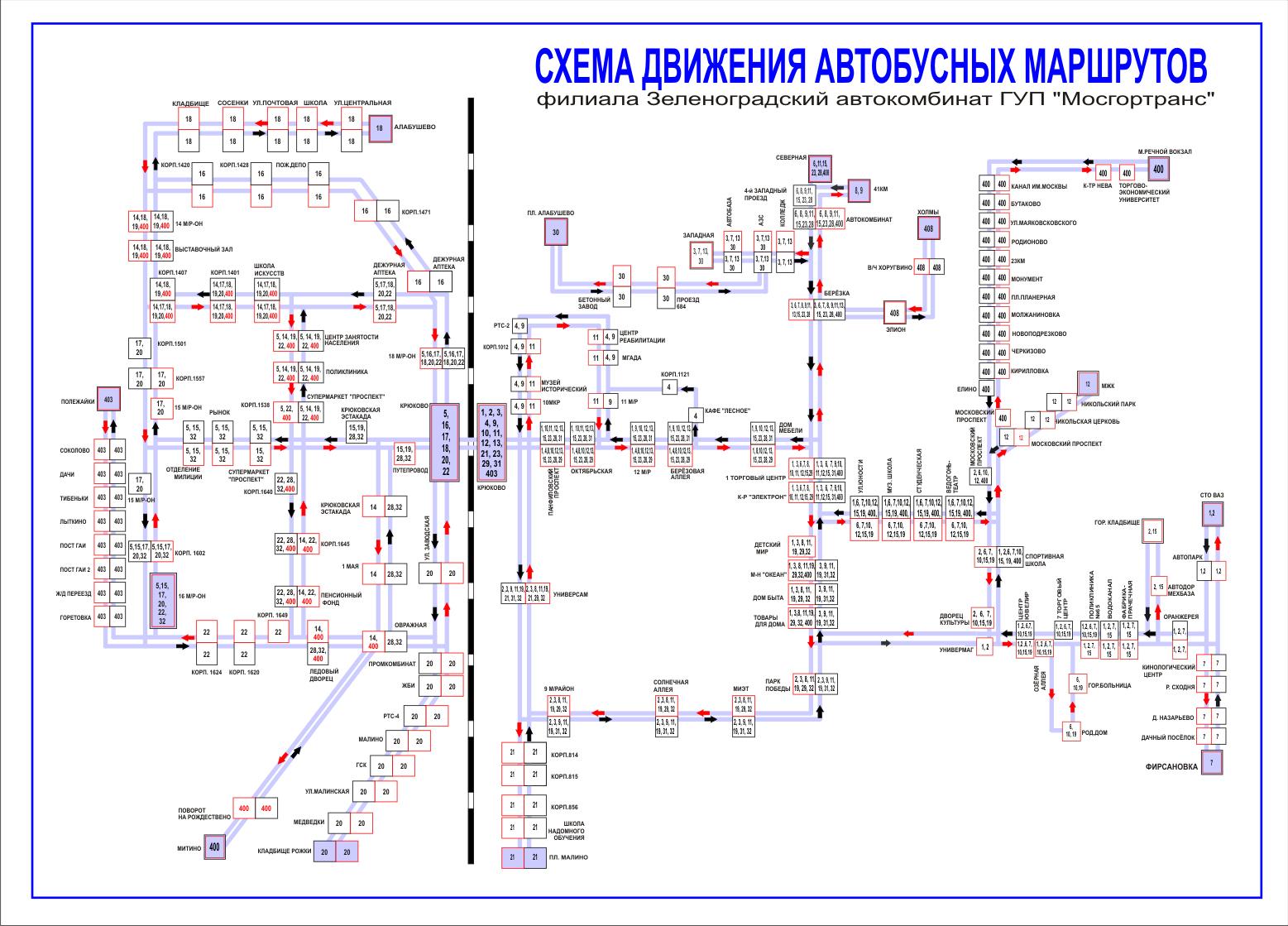 Схема движения транспорта расписание автобусов5